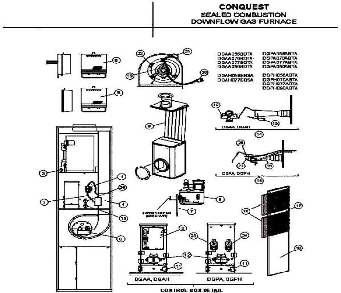 mileco_1767_216708 697x600 colemamgas coleman mobile home gas furnace wiring diagram at et-consult.org